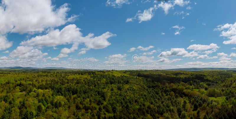 Top of Pennsylvania's Pocono Mountains rural landscape. Dramatic sky new york poconos united states countryside nature forest scenic travel green beautiful stock images
