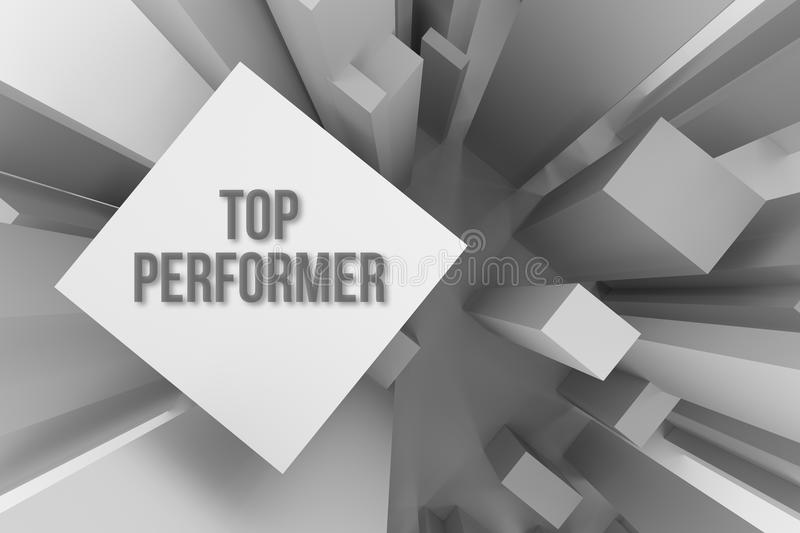 Top performer, business concepture, abstract modern pillar style soft white & gray background. Artistic, blank, backdrop & blur. royalty free illustration
