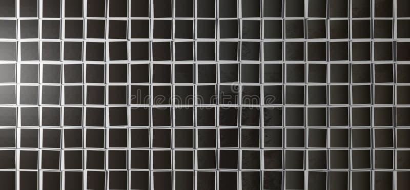 Top polaroid de las filas de la disposición fotografía de archivo libre de regalías