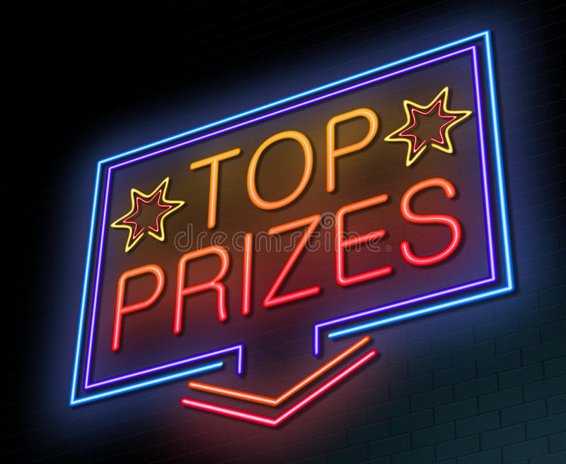 Top prizes concept. royalty free illustration