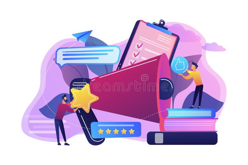 Top-ranking concept vector illustration. stock illustration