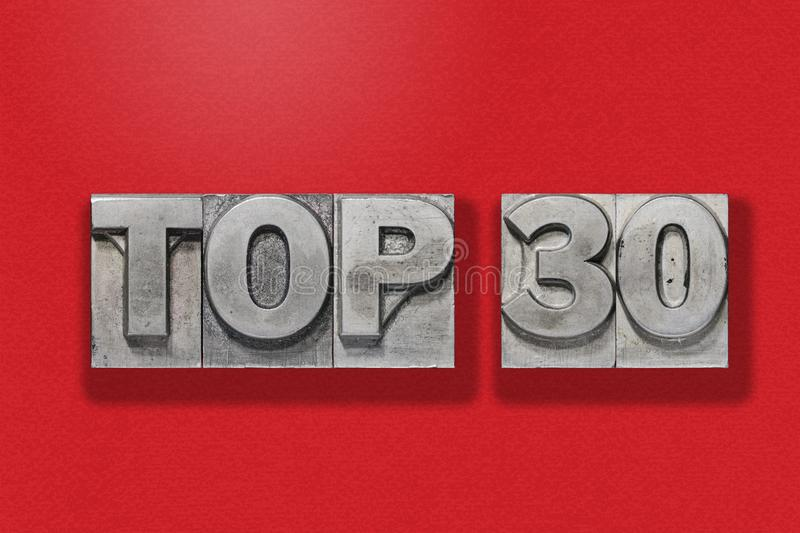 Top 30 on red royalty free stock images