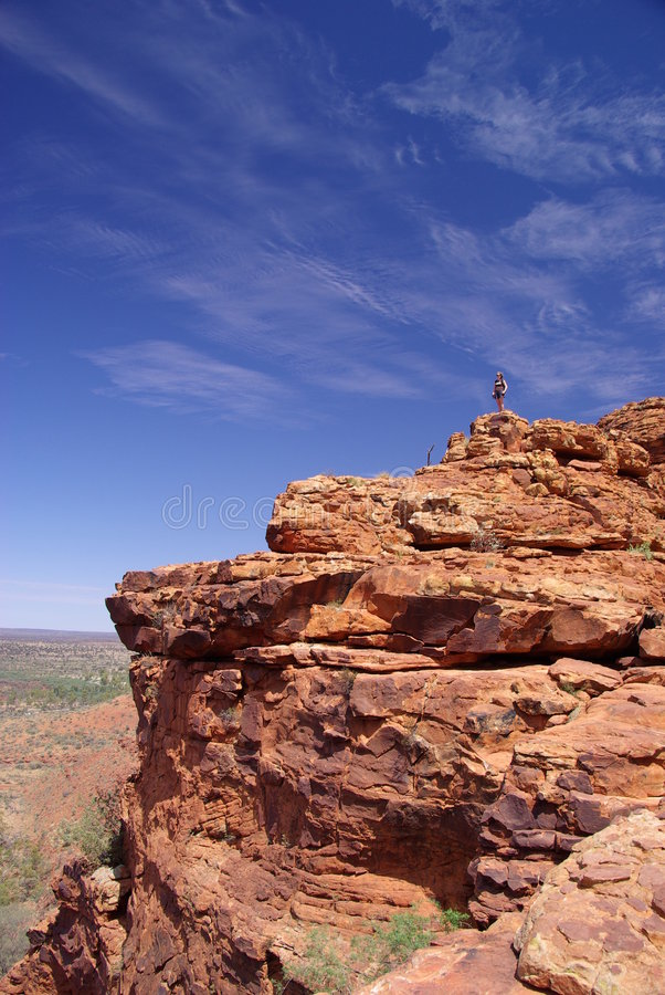 Download On Top of Rocky Outcrop stock photo. Image of female, girl - 6831024