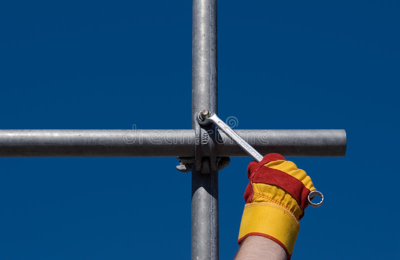 Top of the scaffold royalty free stock images