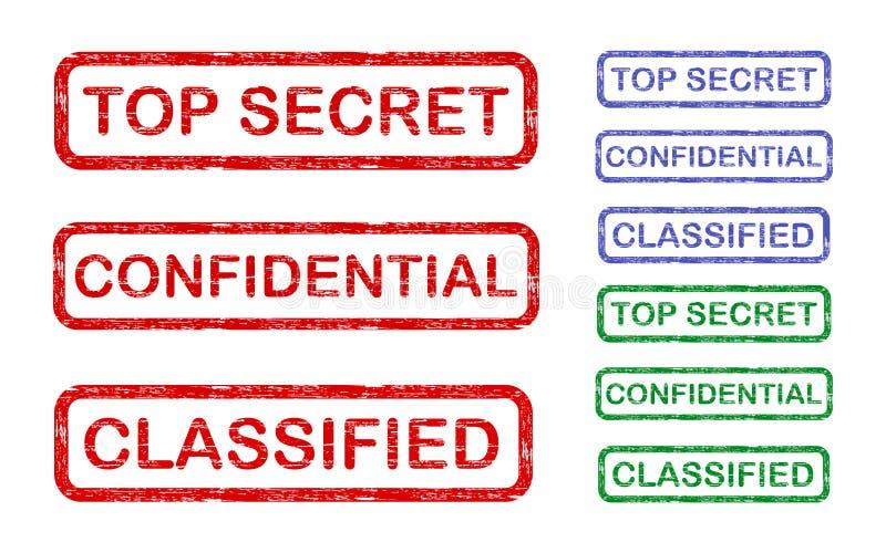 Top secret illustrazione di stock
