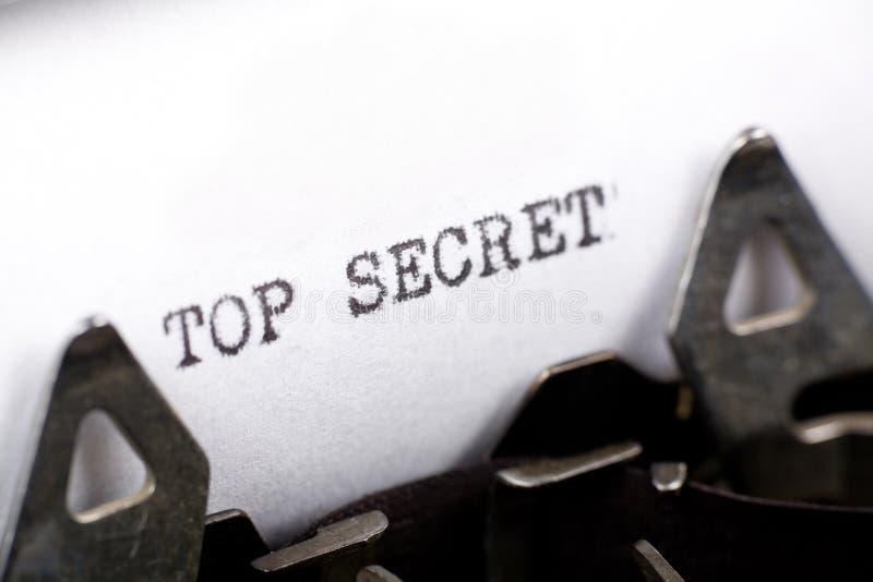 Top secret fotografie stock libere da diritti