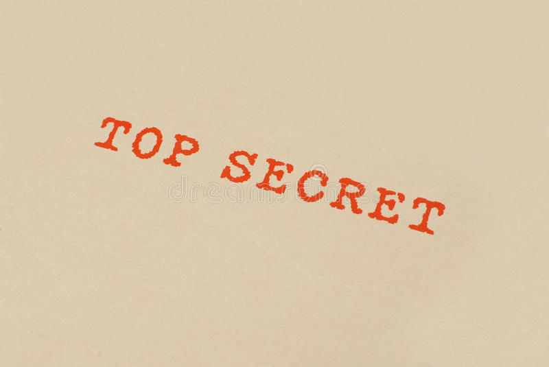 Top Secret Box Royalty Free Stock Image