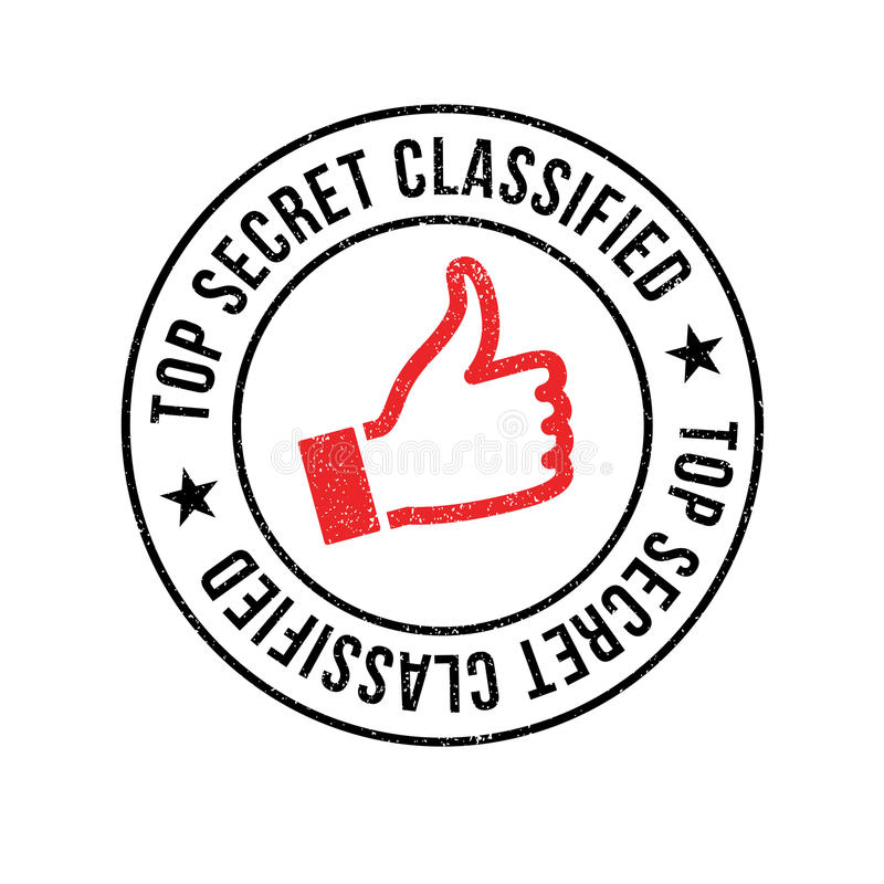 Top Secret Classified rubber stamp. Grunge design with dust scratches. Effects can be easily removed for a clean, crisp look. Color is easily changed royalty free stock image
