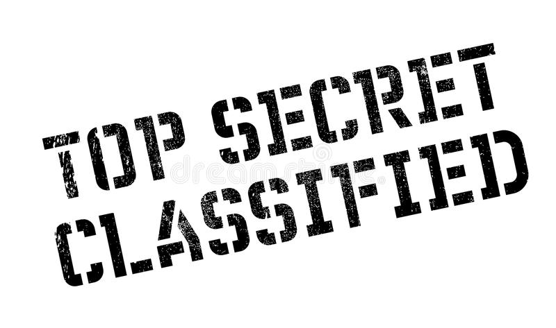 Top Secret Classified rubber stamp. Grunge design with dust scratches. Effects can be easily removed for a clean, crisp look. Color is easily changed stock images