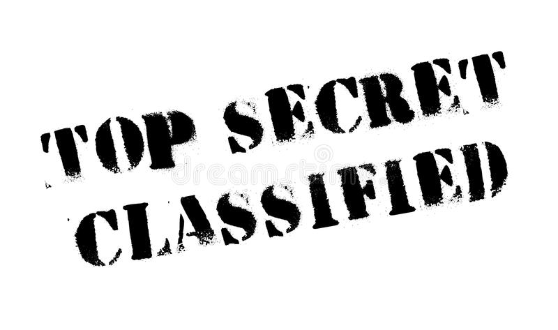 Top Secret Classified rubber stamp. Grunge design with dust scratches. Effects can be easily removed for a clean, crisp look. Color is easily changed stock photo