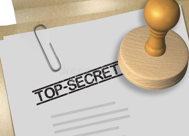 TOP SECRET - concept d'approbation illustration libre de droits