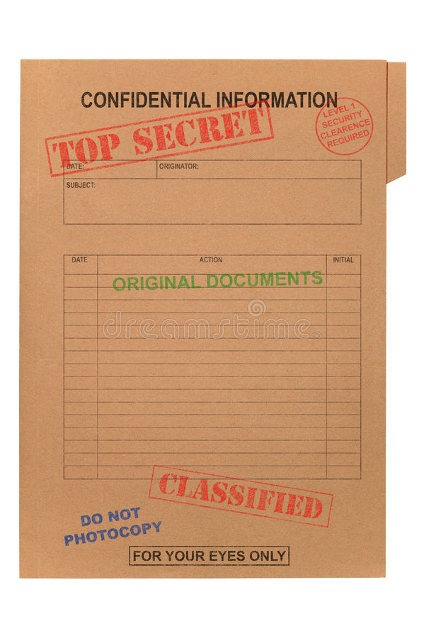 Free Top Secret Confidential File Stock Photography - 6199852