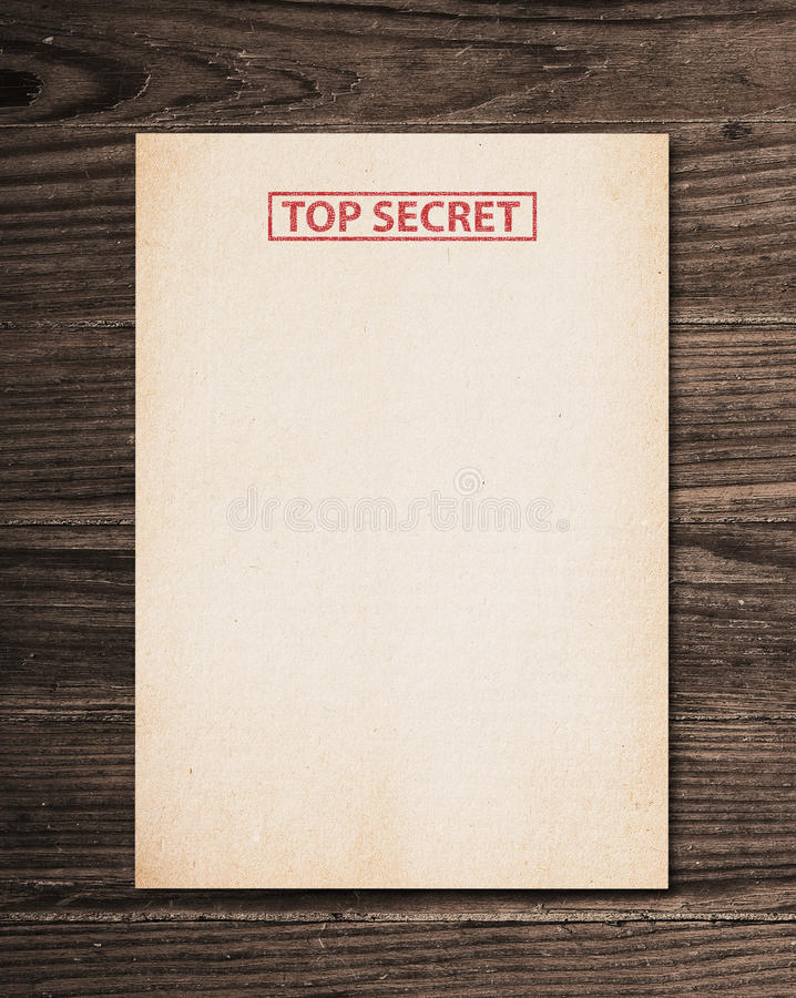 Download Top secret document. stock photo. Image of private, dirty - 15164200