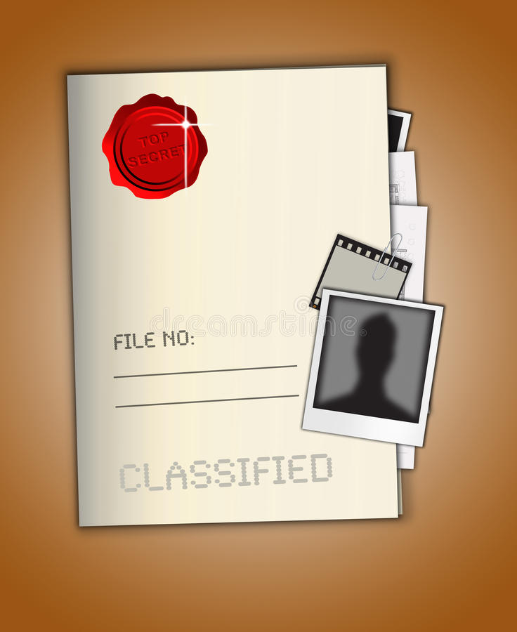 Download Top Secret File stock illustration. Image of contingency - 30362886