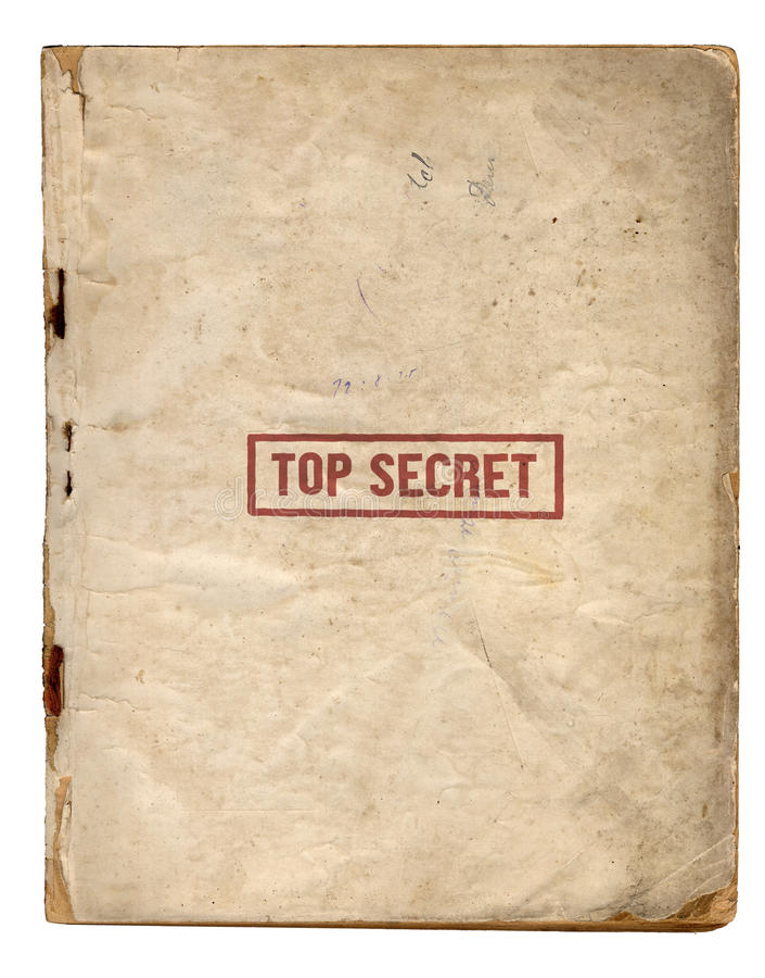 Top Secret Files stock photo
