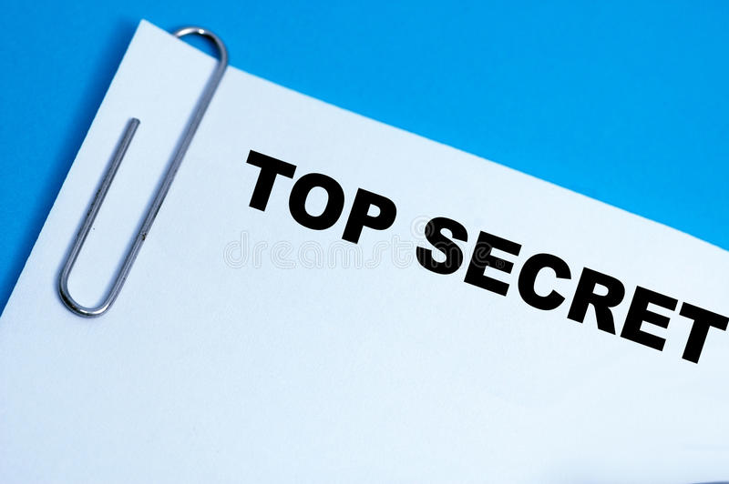 Top Secret Paperclip Papers royalty free stock photos