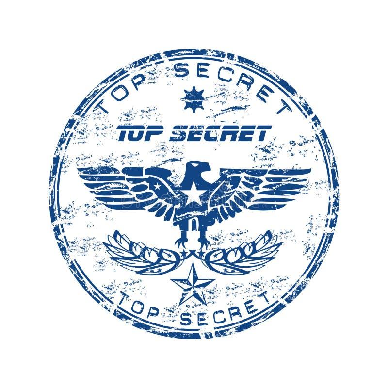 Download Top secret rubber stamp stock vector. Image of espionage - 10518184