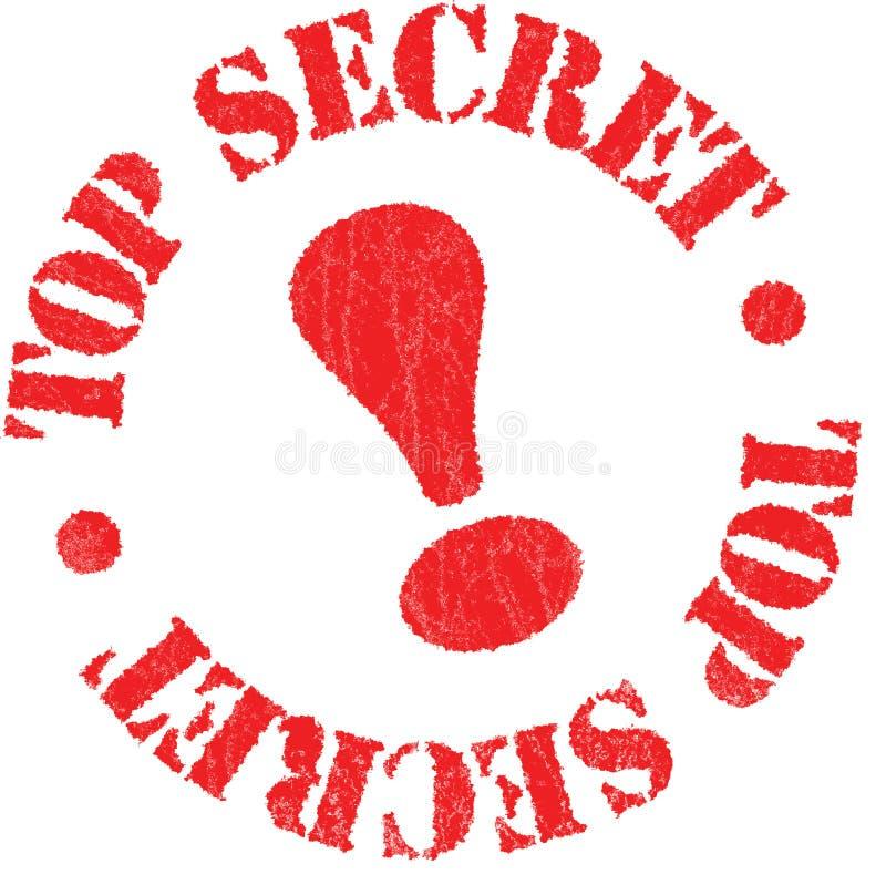 Top Secret Rubber Stamp royalty free illustration