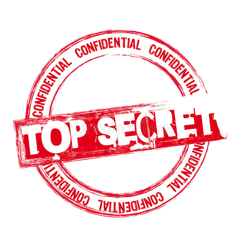 Top secret stamp. Red top secret stamp isolated over white background. vector stock illustration