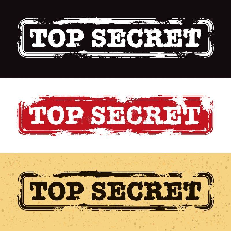 Top Secret Stamp stock illustration