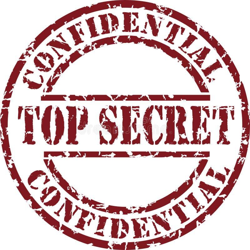 Top Secret Stamp Stock Photo