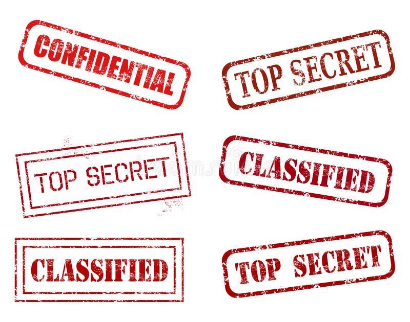 Top secret stamps vector illustration