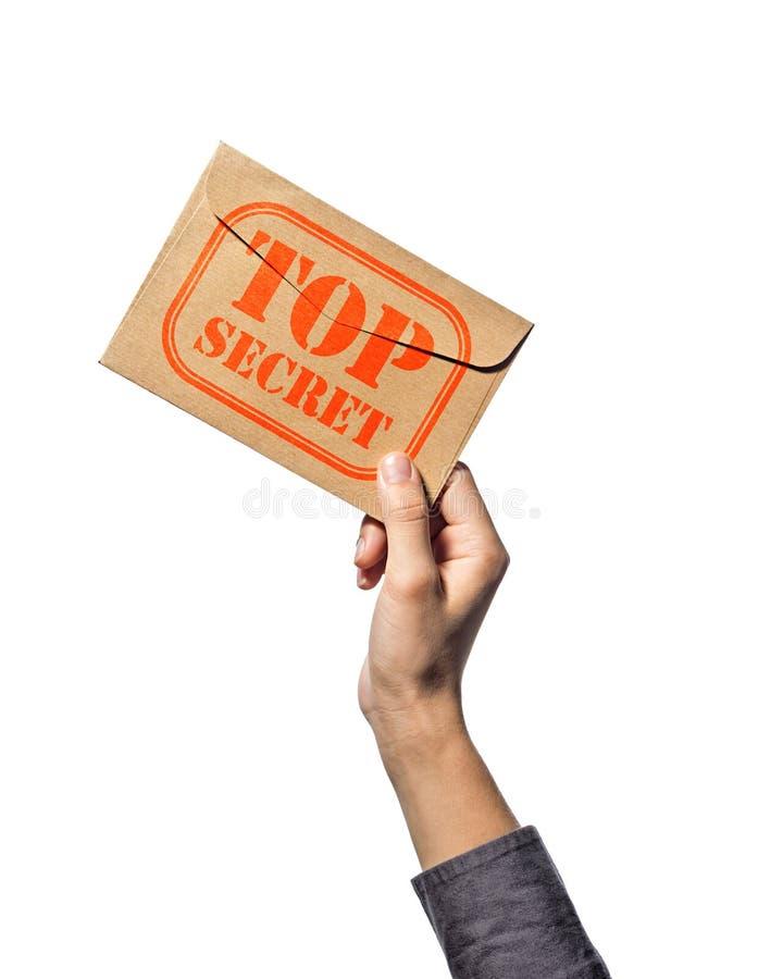 Top-secret, su bianco fotografia stock