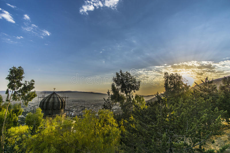 From the top of Shiraz stock photography