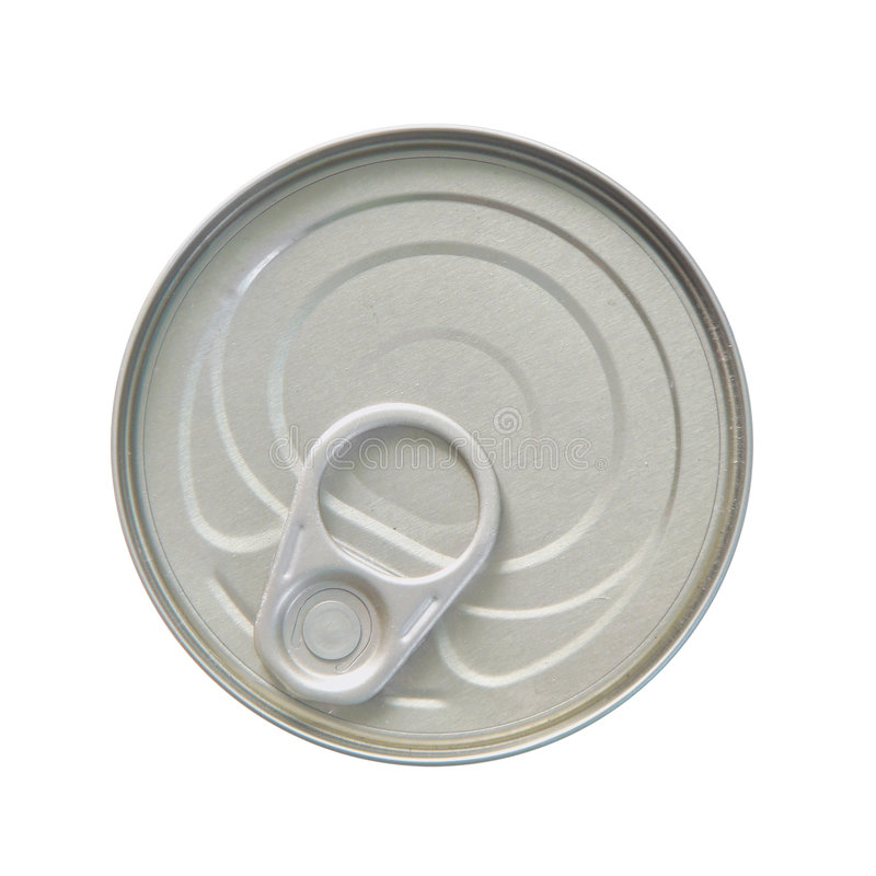 Top side of a can royalty free stock photo