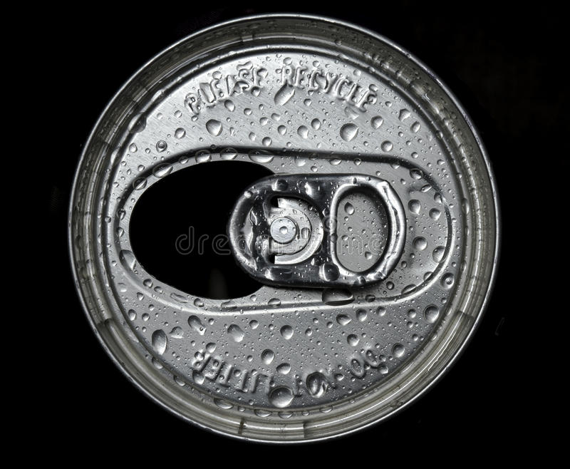 Download Top Side Of Used Can With Water Drop Stock Image - Image: 26577033
