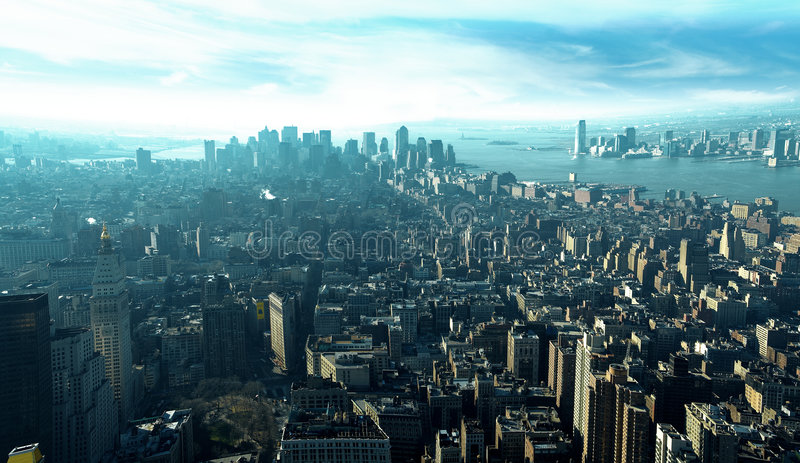 Top of the skyscrapers stock images