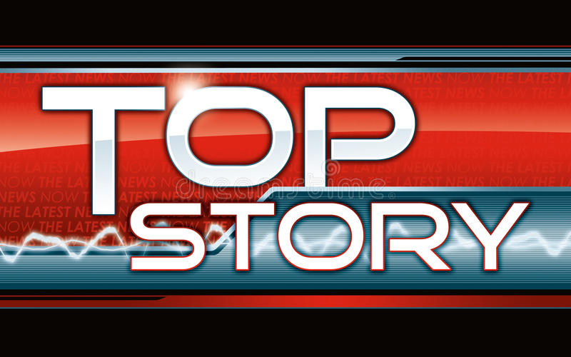 Top Story Latest News Graphic royalty free illustration