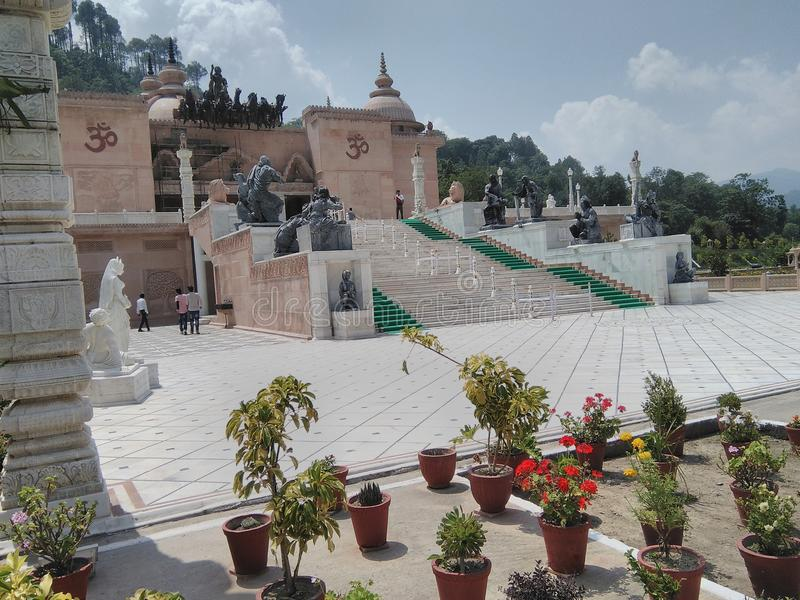 Top tample shakti. Beautiful tample in india stock photography