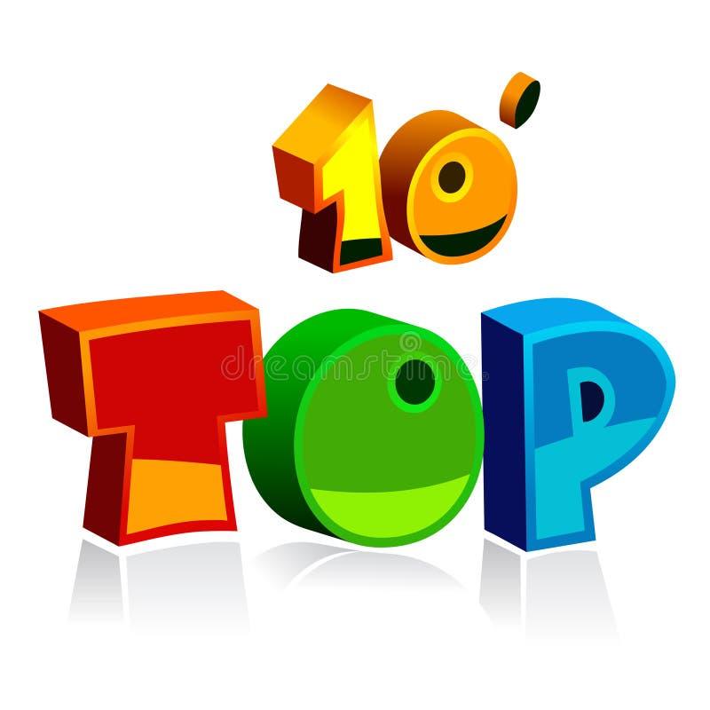 Download Top ten stock vector. Image of order, vector, isolated - 7765289