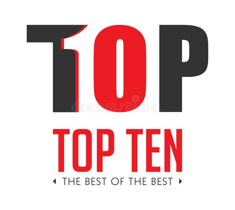 Top ten - list of bestsellers - the best of the best concept royalty free stock photos