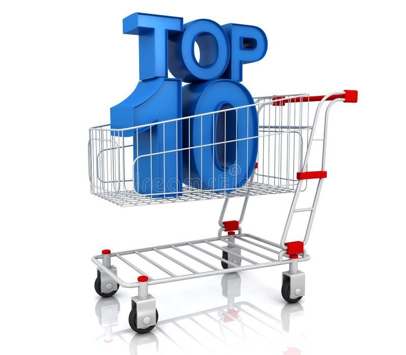 Top Ten In Shopping Cart Royalty Free Stock Image