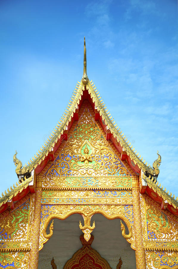 Top of Thai temple royalty free stock photography