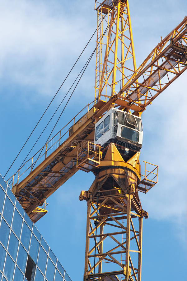 Download Top of tower crane and sky stock photo. Image of clouds - 17528340