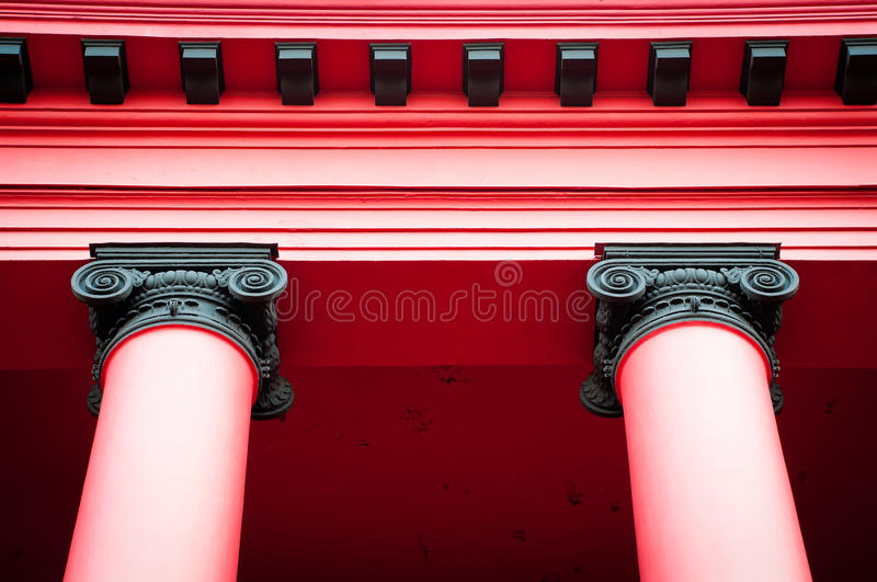 Download Top of two red columns stock image. Image of roman, classic - 16396743