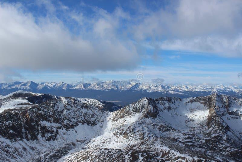 Top van Mt Democraat in de Winter De Rotsachtige Bergen van Colorado stock afbeelding