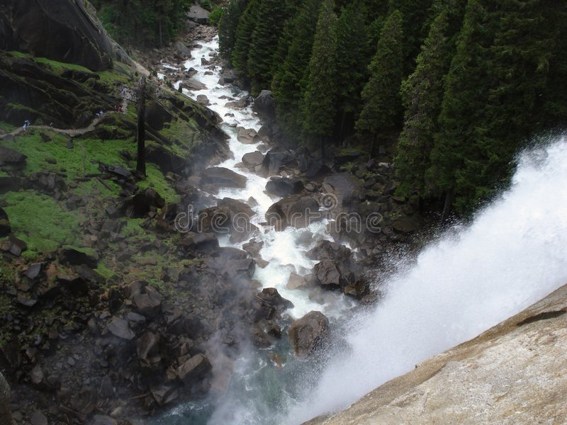 Top of Vernal Falls stock images