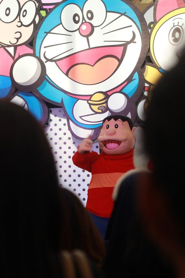 Top View, 23 Ιουνίου 2019, Doraemon, Nobi Nobita, Takshi Goda ή Γιγάντιο, Shizuka Minamoto, Suneo Honekawa Cartoon Χαρακτήρας στο στοκ φωτογραφίες με δικαίωμα ελεύθερης χρήσης