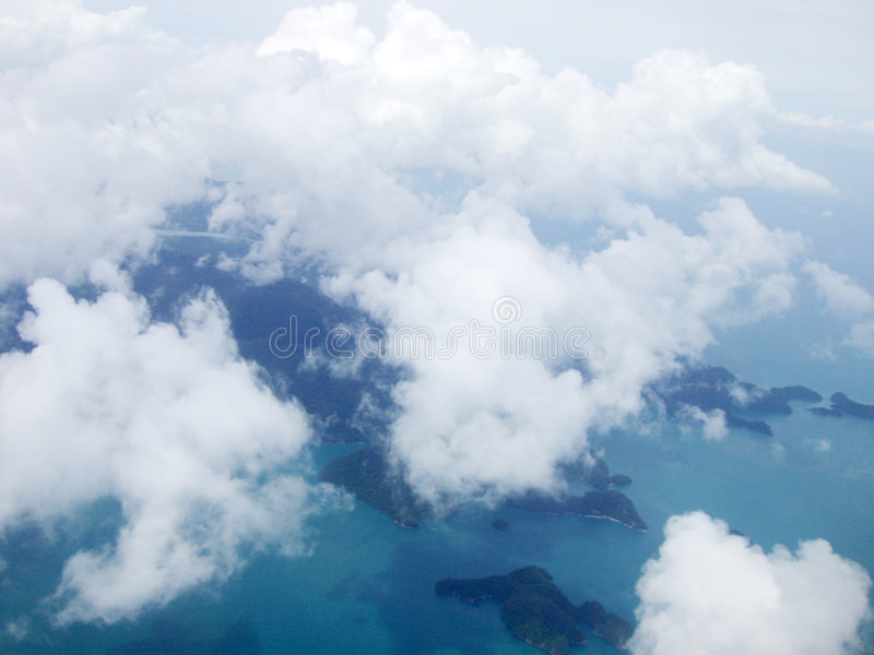 Download Top view 1 stock image. Image of cloud, cloudy, island - 3353039