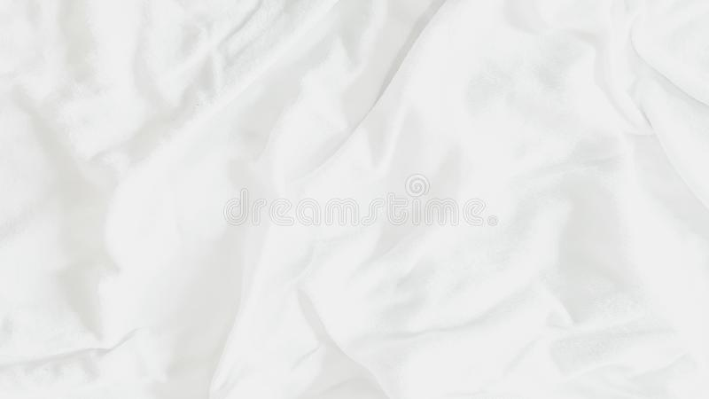 Top view - Abstract textures and patterns of bedding sheet cloth background  with soft sunlight in morning bedroom.  vector illustration