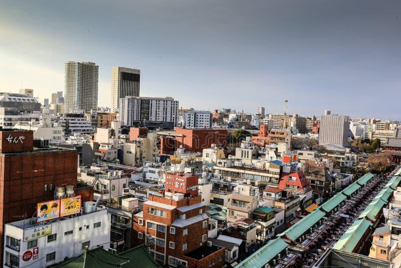 Top view of Asakusa area stock photography