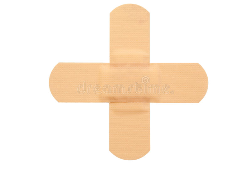 Top view of band-aid royalty free stock images