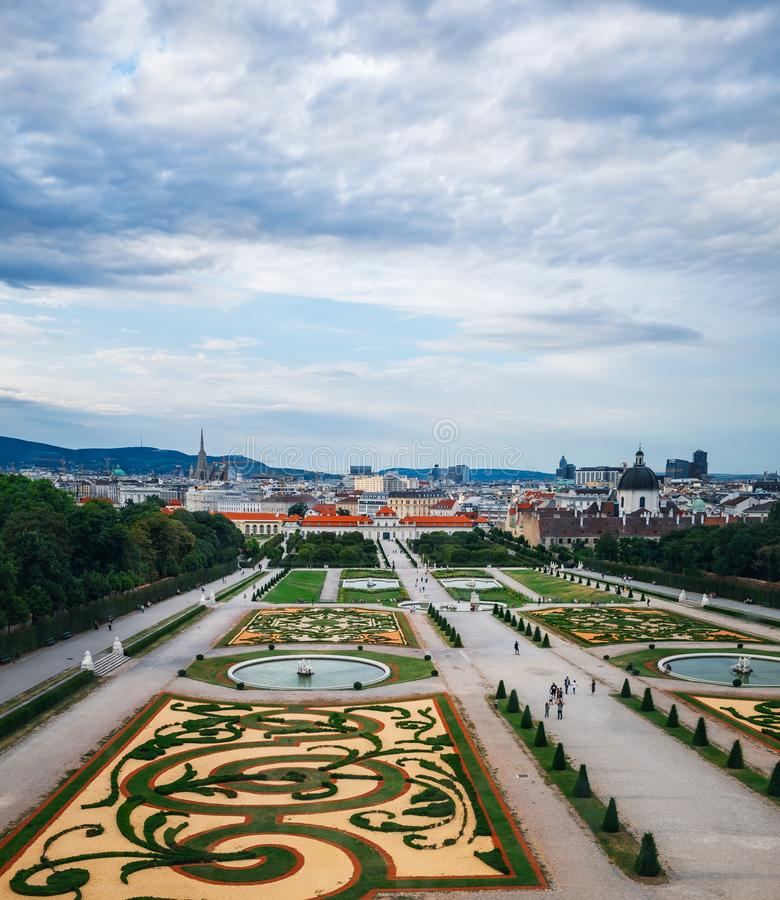 Top view on Belvedere Palace, Vienna, Austria royalty free stock images