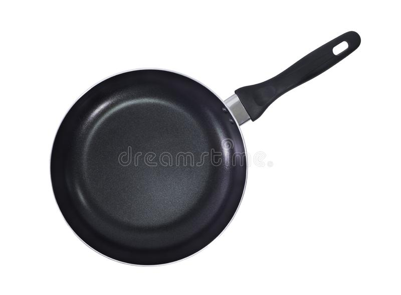 Black Frying Pan Top View Isolated Stock Photo Image Of