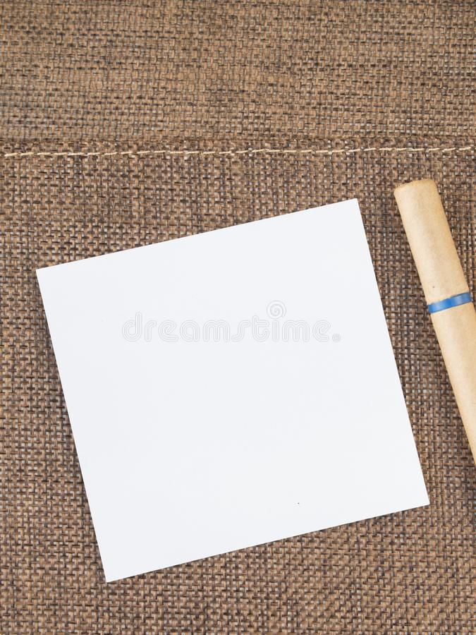 Top view blank notebook in the middle. royalty free stock photography