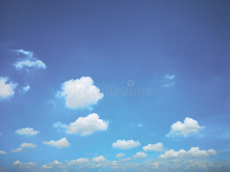 Top view blue sky white cloud beautiful day full frame background. Top view blue sky and white cloud beautiful day full frame background.Deep blue sky stock photography